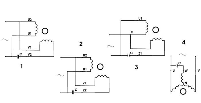 Схемы включения конденсаторов.